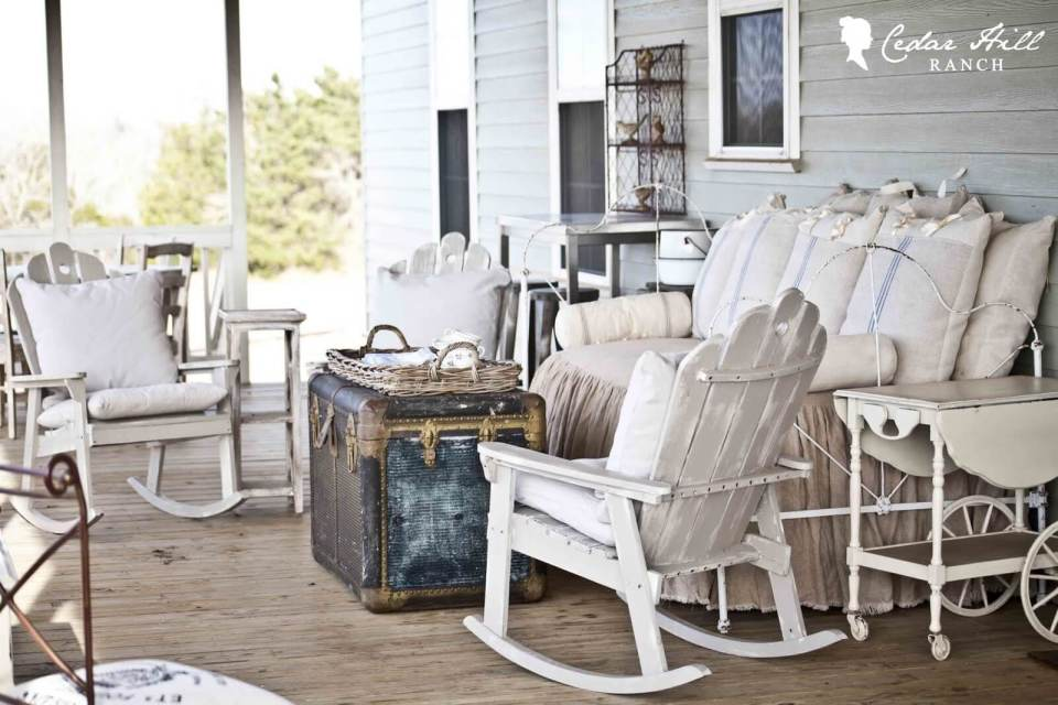 Lived In and Lived On Outdoor Furniture | Vintage Porch Decor Ideas