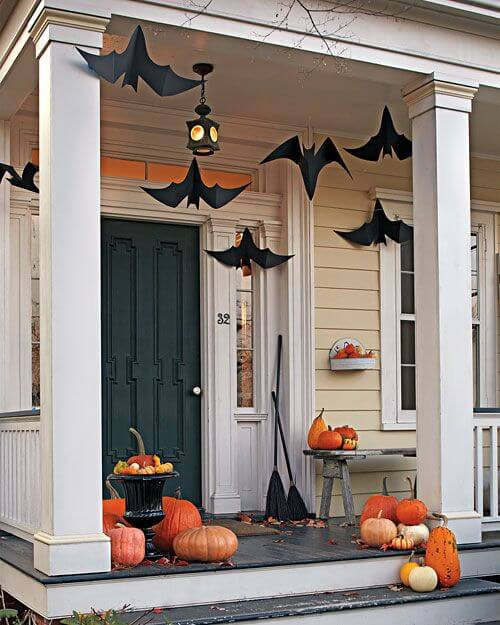 Halloween Door Decoration Ideas: Flying Bats