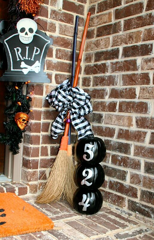 Fancy Witches Only Please | Scary DIY Halloween Porch Decoration Ideas | vintage halloween porch