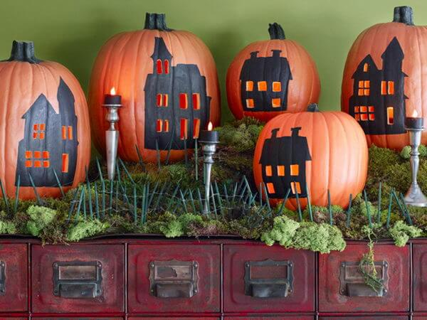 DIY Pumpkin Carving Ideas: Skyline