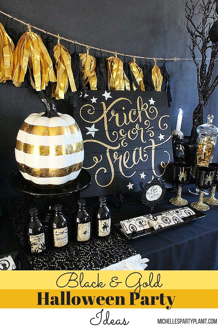 Gold is Always in Style | Awesome DIY Halloween Party Decor | BHG Halloween