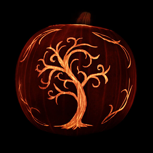 DIY Pumpkin Carving Ideas: The Tree Of Life