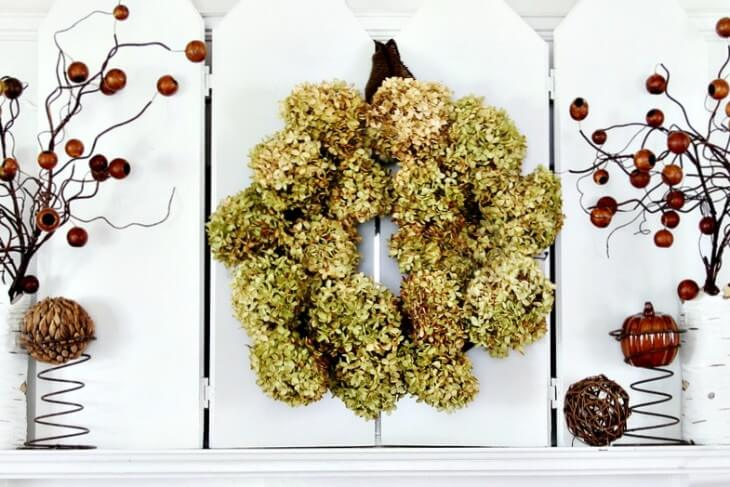 How to Make a Hydrangea Wreath