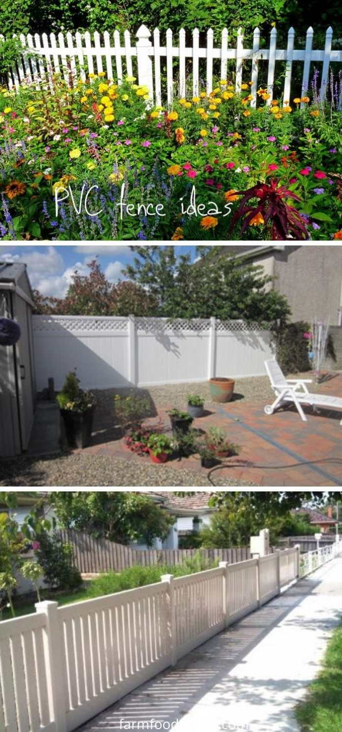 PVC or vinyl privacy fence ideas