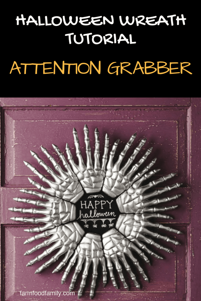 DIY Front Door Halloween Wreaths: Attention Grabber
