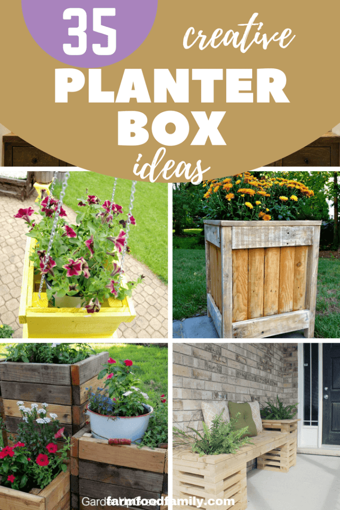 35 Creative DIY Pallet and Wood Planter Box Ideas For Your Garden