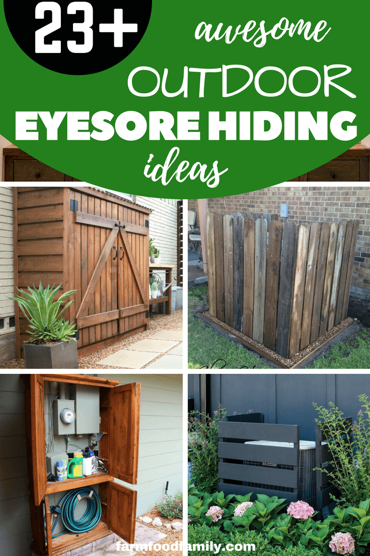 25 DIY Outdoor Eyesore Hiding Ideas