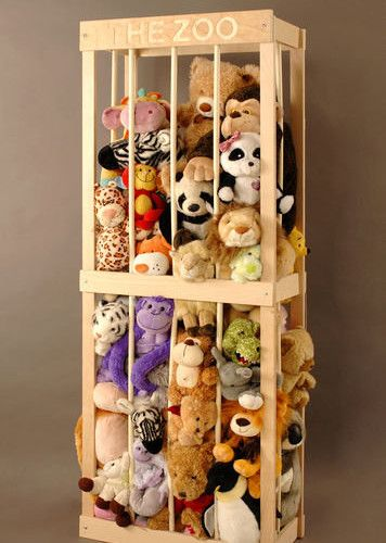 'The Zoo' Stuffed Animal Storage | Cool Zoo Themed Bedroom Ideas For Kids or Nursery