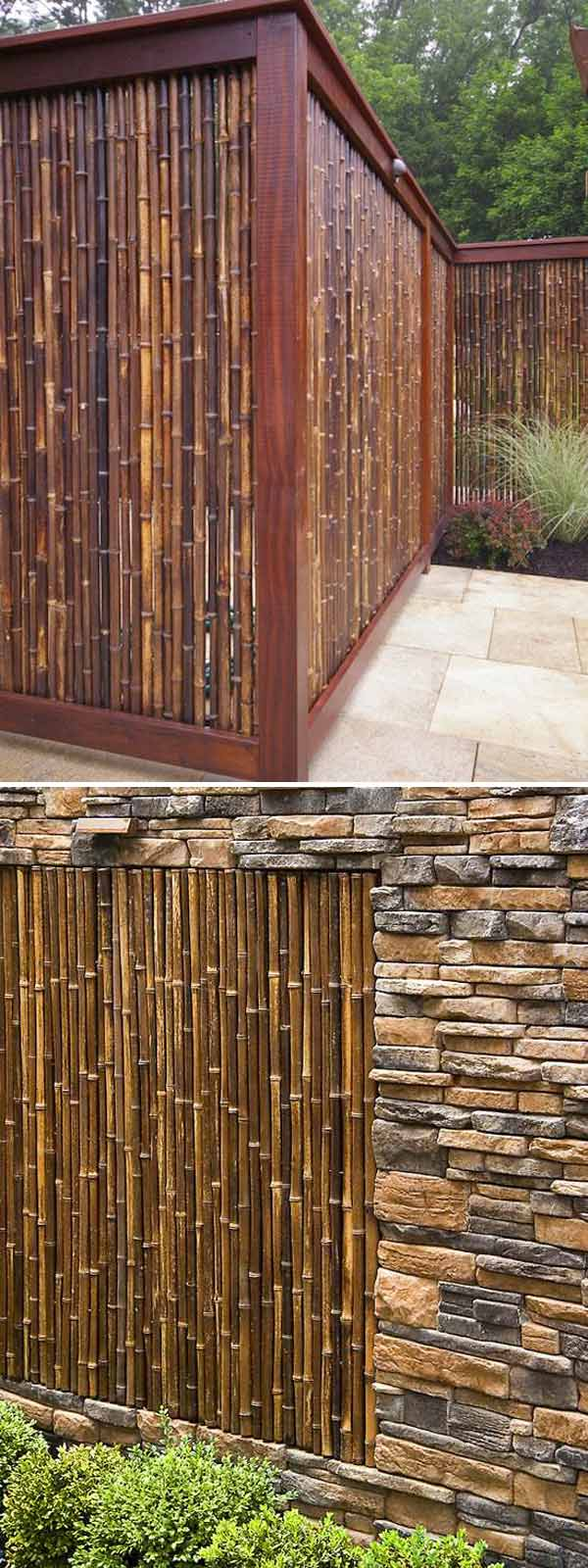 Outdoor Fence | Stunning Bamboo Craft Projects | FarmFoodFamily.com