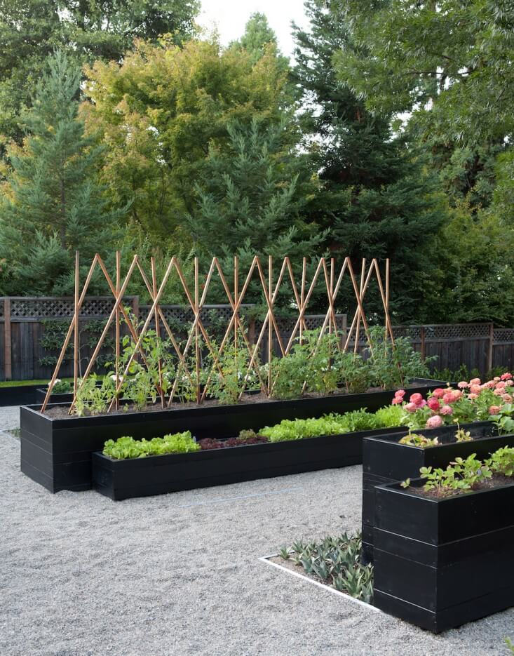 Sculptural planter box | Edging Plants for Kitchen Gardens - FarmFoodFamily.com