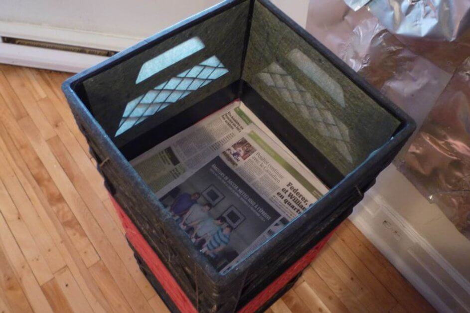 Milkcrate Composter | Easy Compost Bins You Can DIY On Very Low Budget - FarmFoodFamily.com