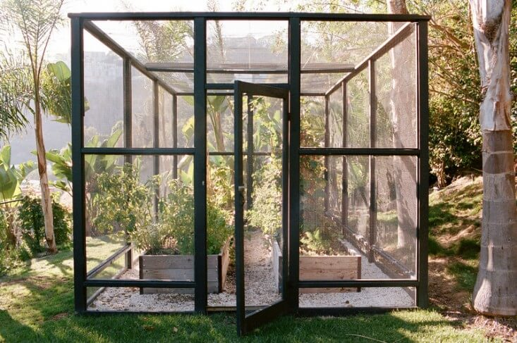 A modern steel and glass solution | Edging Plants for Kitchen Gardens - FarmFoodFamily.com