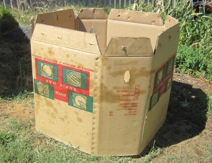 Cardboard Compost Bin | Easy Compost Bins You Can DIY On Very Low Budget - FarmFoodFamily.com