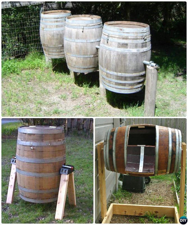 Wine Barrel Compost | Easy Compost Bins You Can DIY On Very Low Budget - FarmFoodFamily.com