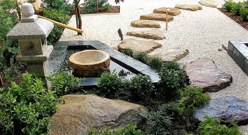 Peaceful Seating Area And Path Zen Garden | Zen Garden Designs & Ideas