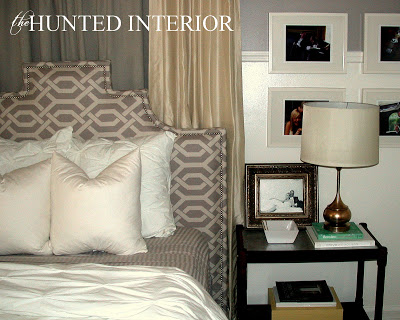 Upholstered Headboard with Accent Nail Head Trim | DIY Headboard Decoration Ideas for Bedroom