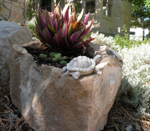 Natural Rock Planter | Low-Budget DIY Garden Pots and Containers