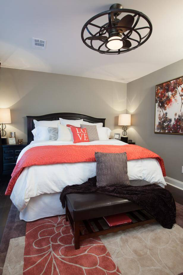 Warm Corals Calming Master Bedroom