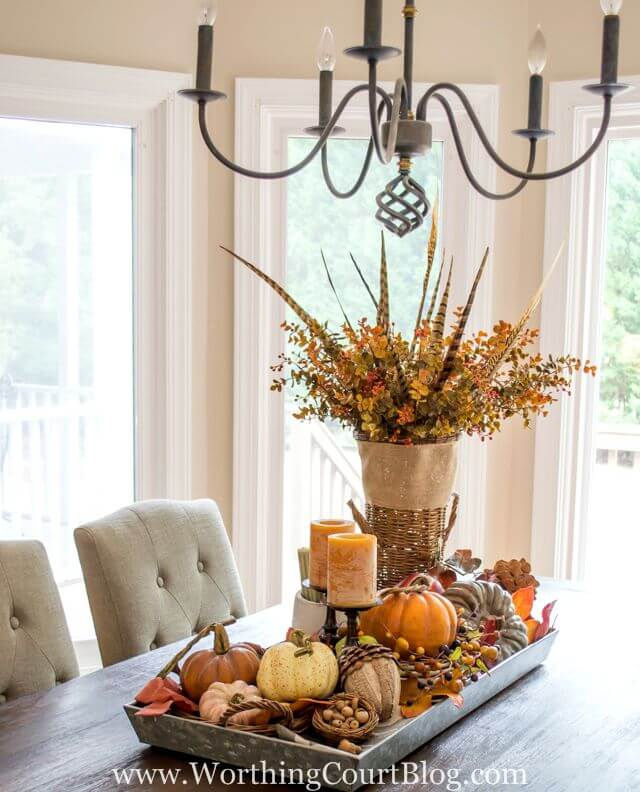Fall Table Centerpiece | Best DIY Fall Centerpiece Ideas | FarmFoodFamily.com
