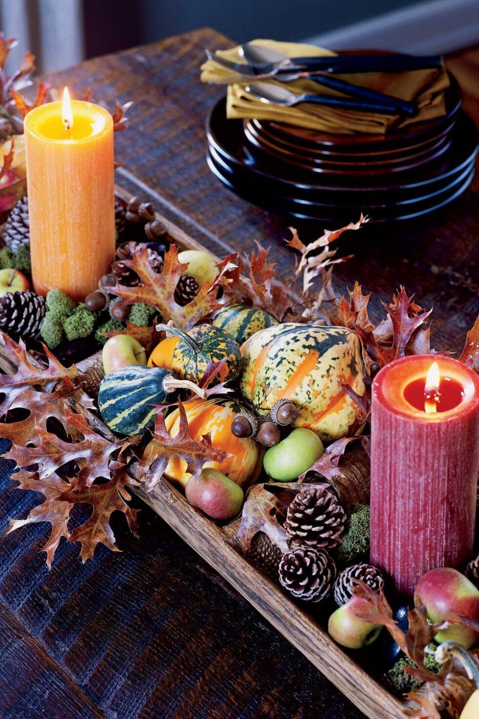Harvest centerpiece | Best DIY Fall Centerpiece Ideas | FarmFoodFamily.com