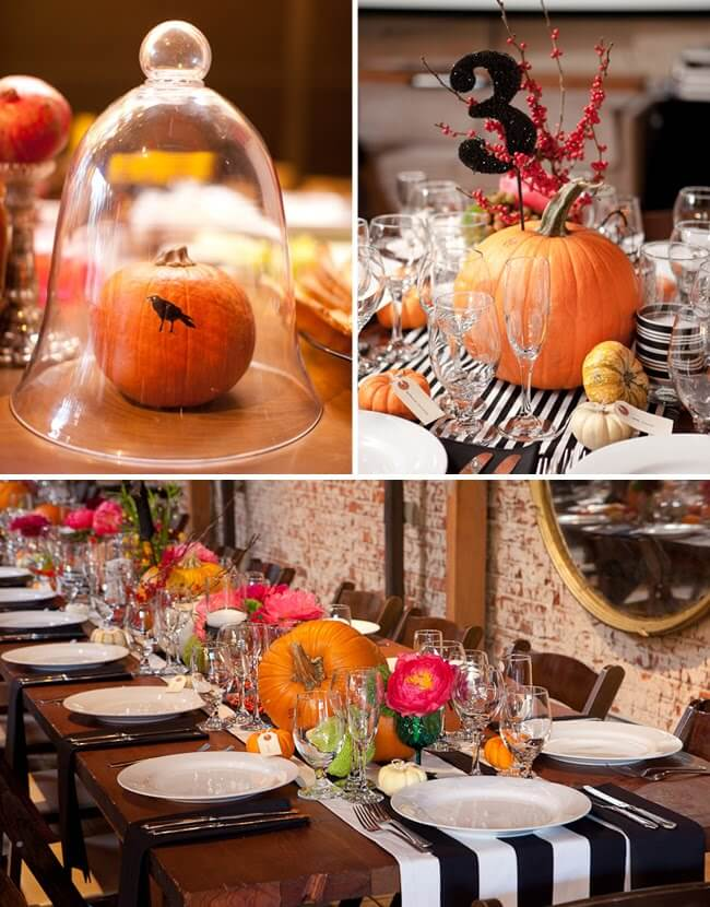 Artsy Halloween Wedding | Fun & Spooky Halloween Table Decoration Ideas - FarmFoodFamily.com