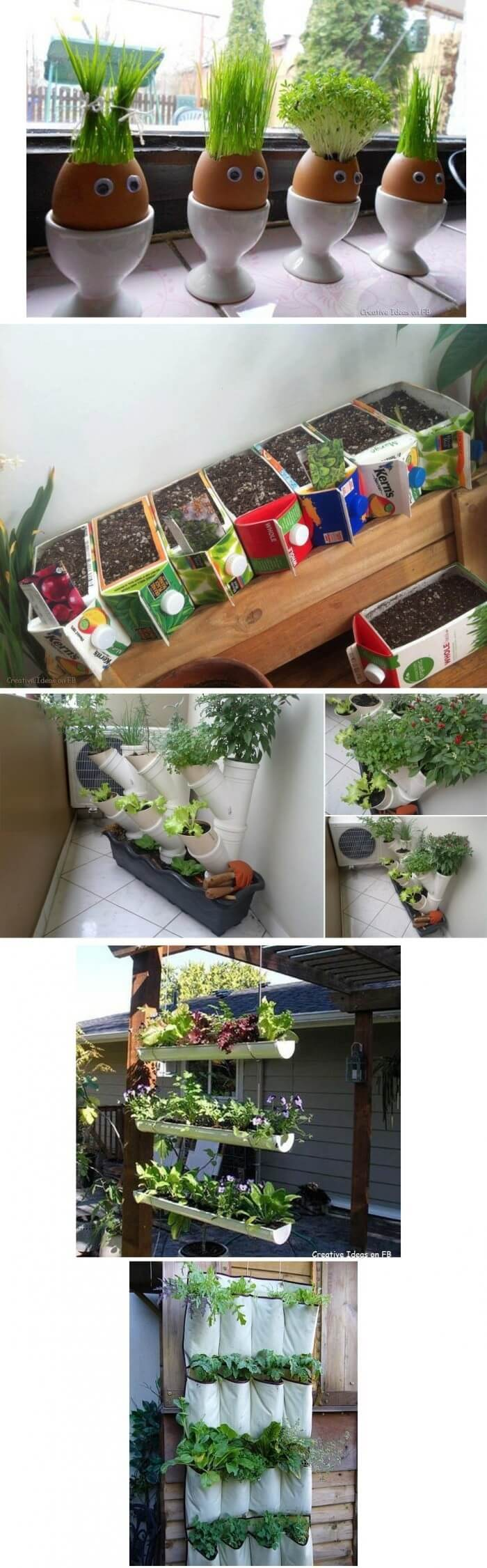 Simple indoor idea | Smart Mini Indoor Garden Ideas DIY - FarmFoodFamily.com