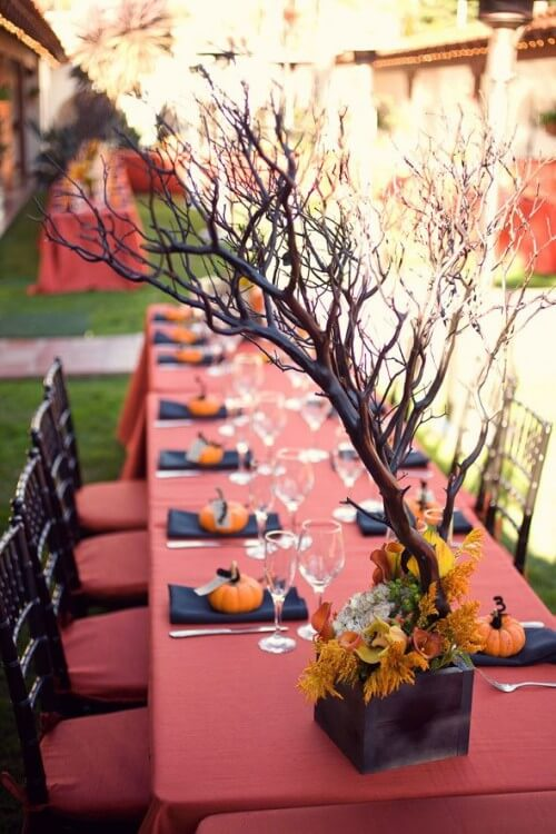 Wedding Table Settings | Fun & Spooky Halloween Table Decoration Ideas - FarmFoodFamily.com