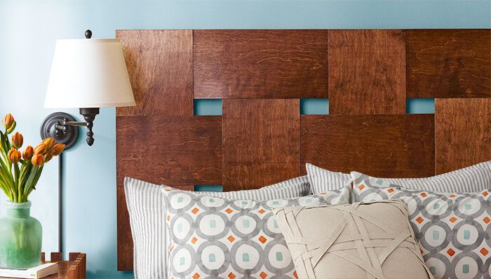 Wooden Woven Headboard | DIY Headboard Decoration Ideas for Bedroom