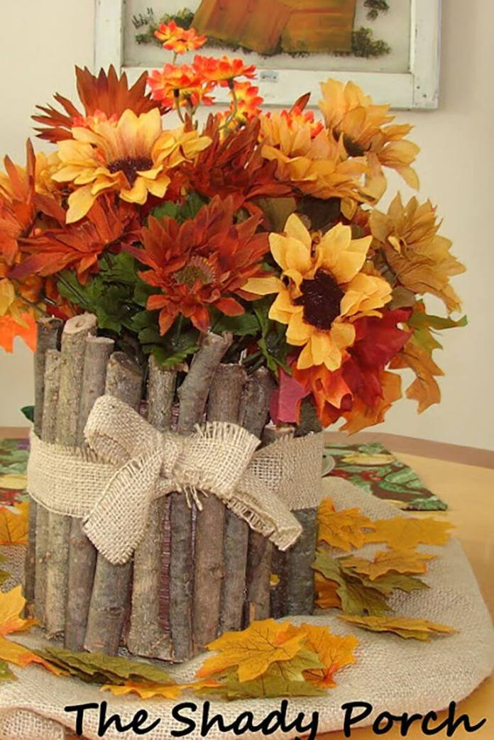 Branches Flowers | Best DIY Fall Centerpiece Ideas | FarmFoodFamily.com