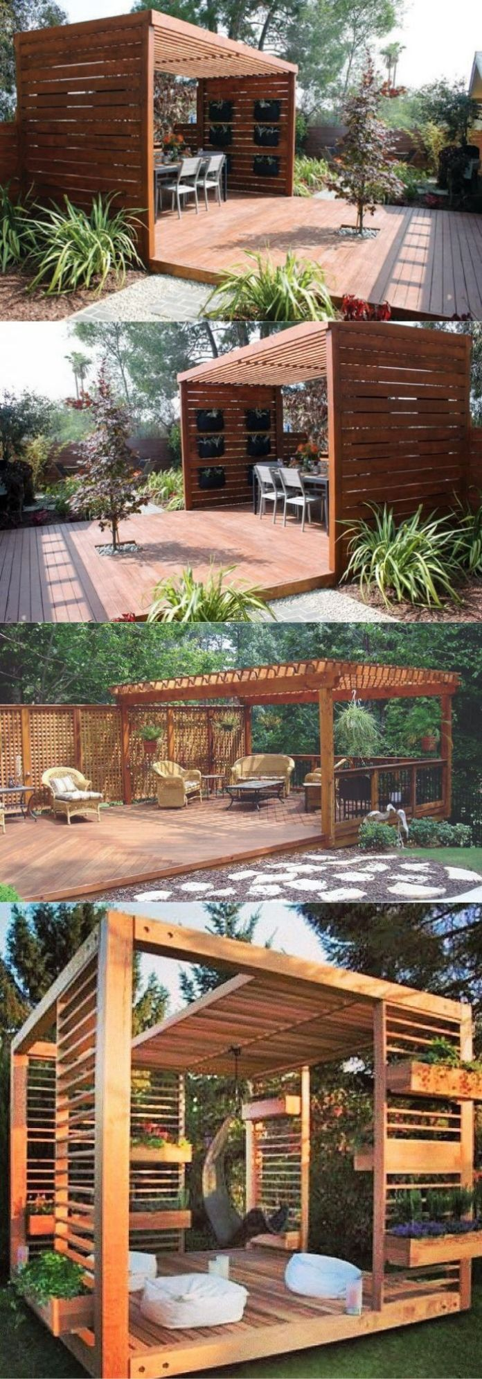 21 Easy and Inexpensive Floating Deck Ideas For Your Backyard on Simple Back Deck Ideas id=96874