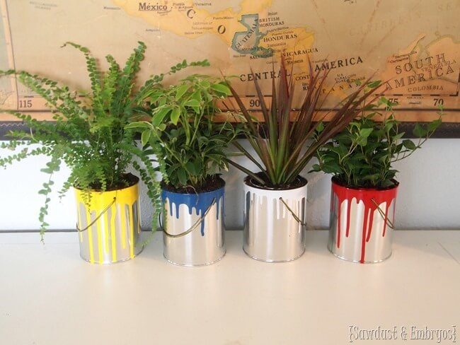 Paint Can Garden Pots | Low-Budget DIY Garden Pots and Containers