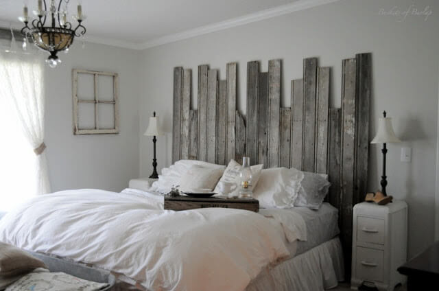 Make a Headboard from Reclaimed Wood | DIY Headboard Decoration Ideas for Bedroom
