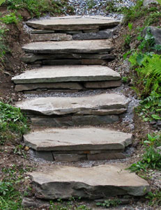 Flagstone Garden Steps | Creative Garden Step & Stair Ideas | FarmFoodFamily