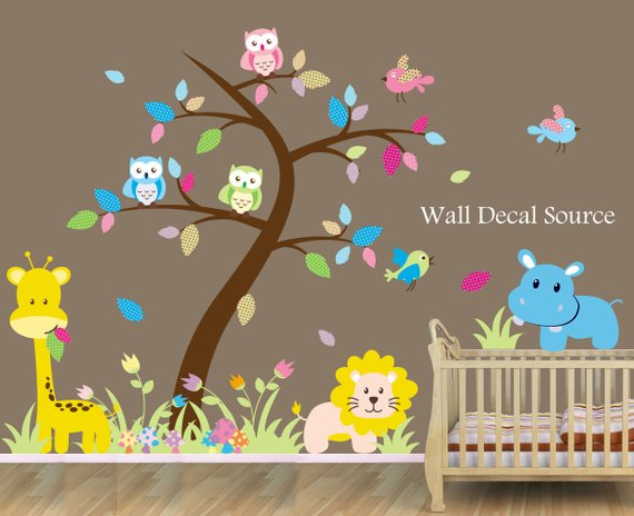 Jungle Nursery Wall Decals | Cool Zoo Themed Bedroom Ideas For Kids or Nursery