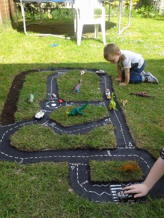 Build A Race Car Track | DIY Race Car Tracks for Kids - FarmFoodFamily