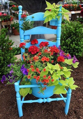 Remove The Seats From Old Chairs For Flower Beds | Low-Budget DIY Garden Pots and Containers