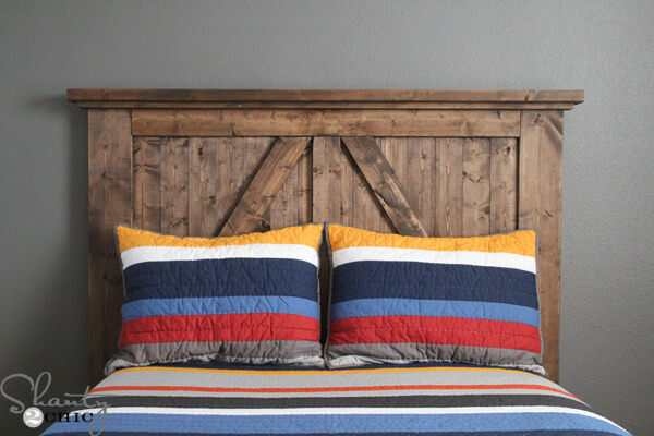 DIY Barn Door Headboard | DIY Headboard Decoration Ideas for Bedroom