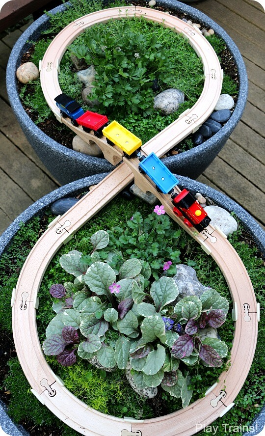 Build a garden train table | DIY Race Car Tracks for Kids - FarmFoodFamily