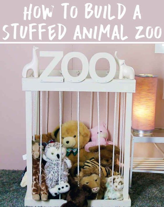 How to build a stuffed animal zoo | Cool Zoo Themed Bedroom Ideas For Kids or Nursery