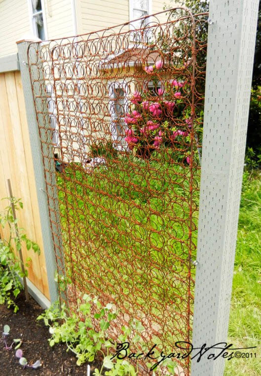 Mattress Springs Trellis | Up-cycled Trellis Ideas For Garden