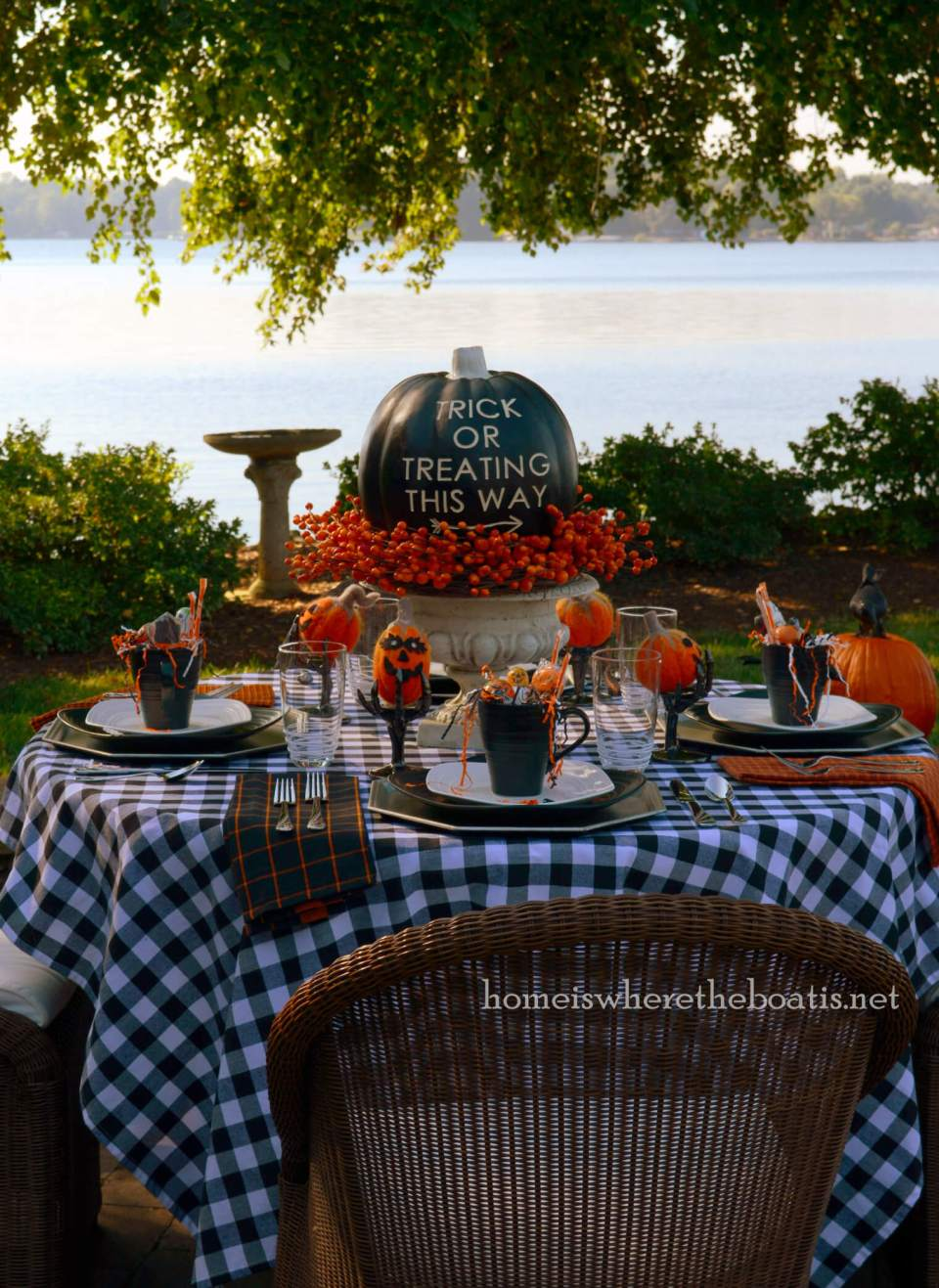 This Way to Trick or Treating | Fun & Spooky Halloween Table Decoration Ideas - FarmFoodFamily.com