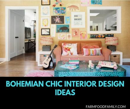 Bohemian Chic Interior design ideas for living room and bedroom