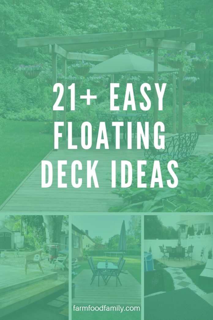 Easy and Cheap Floating Deck Ideas For Your Backyard