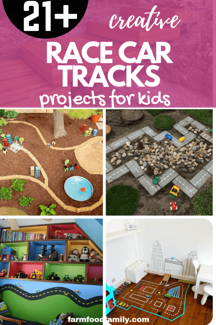 DIY Race Car Tracks Projects for kids