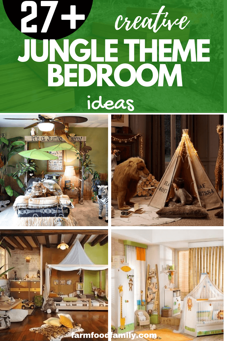 A jungle or safari theme bedroom is a popular selection for any age. Colorful parrots and bright animals peeping through jungle vines can stimulate a new baby's curiosity.