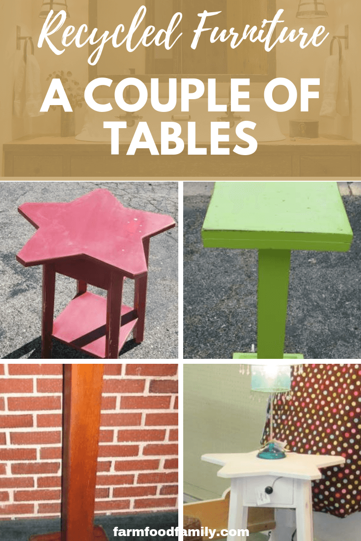 Recycled furniture - a couple of tables