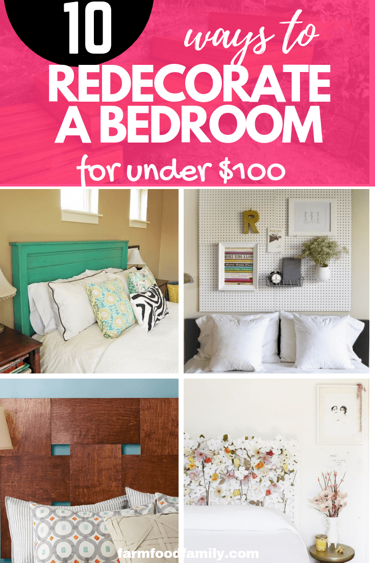 10 Ways to Redecorate a Bedroom for Under $100: Cheap Decorating Tips and Tricks to Update your Bedroom