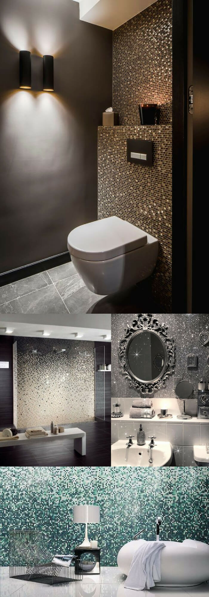 Diamond wall | Unique Wall Tile Ideas for Bathroom Design