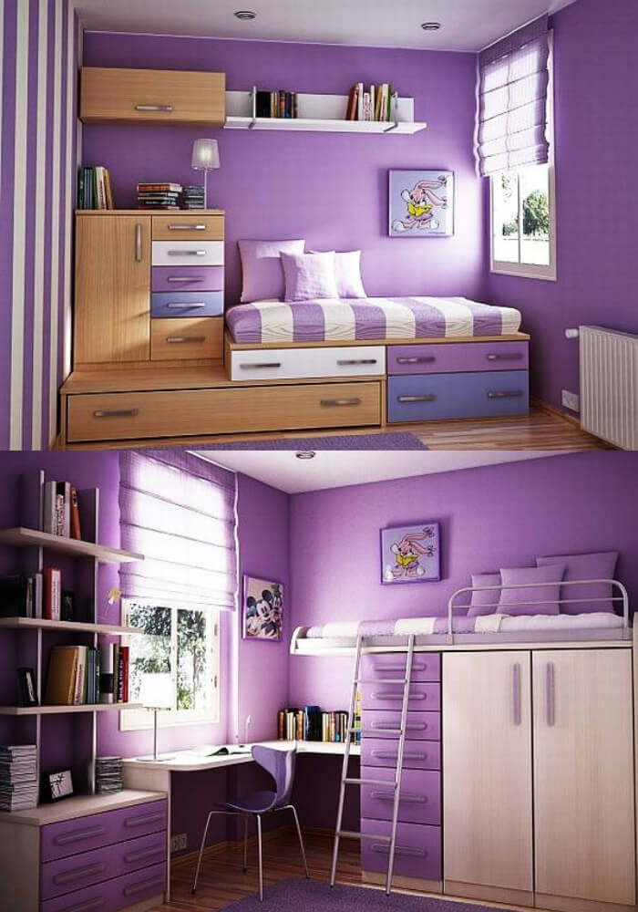Violet teenage girl rooms | Decorating Teen Bedrooms: Transforming a Child's Room with Teenage Décor - FarmFoodFamily.com