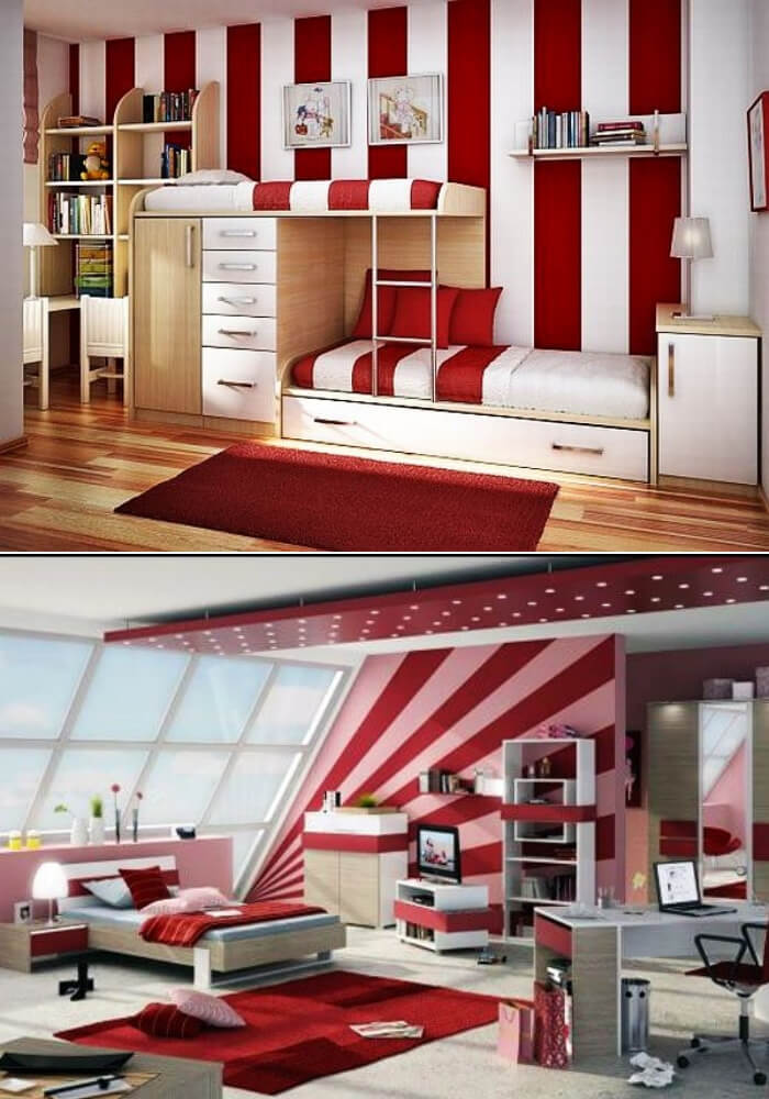 Red teenage girl rooms | Decorating Teen Bedrooms: Transforming a Child's Room with Teenage Décor - FarmFoodFamily.com